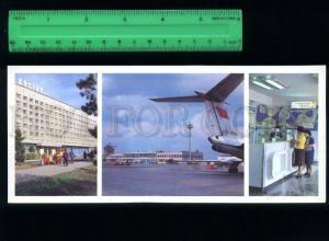 169133 Russia TYUMEN Roschino AIRPORT & Vostok HOTEL old Card