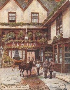 A.R.Quinton. Picturesque Coaching Inns. The New Inn. GloucesterTuck Oilette PC