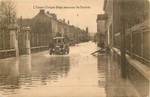 Belgian Civic Union flood disaster distressed / inundations Belgique