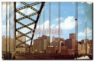 Old Postcard View of Downtown Pittsburgh