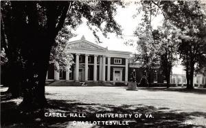 A85/ Charlottesville Virginia Postcard RPPC Cabell Hall University Virginia c40s