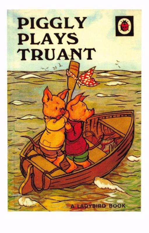 Postcard Piggly Plays Truant (1946) Series 401 Ladybird Book Cover