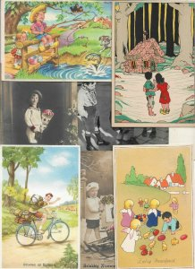 Kids Artist Signed Theme Postcard Lot of 20  01.15