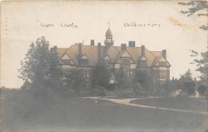 F14/ Bellefontaine Ohio RPPC Postcard 1907 Logan County Children's Home