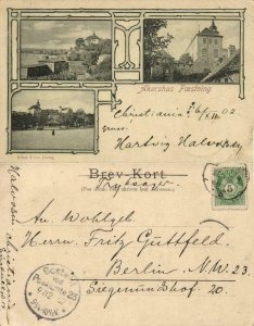 norway norge, CHRISTIANIA, Akershus Festning (1902) Postcard