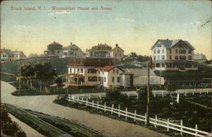 Block Island RI Woonsocket House & Annex 1911 Used Postcard
