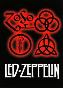 Led Zeppelin IV Cover Symbols Zoso Runes Sigils Modern Postcard