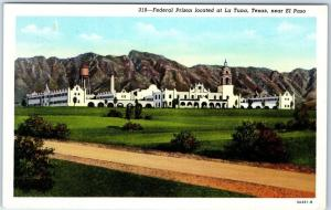 El Paso, Texas Postcard FEDERAL PRISON Penitentiary La Tuna Curteich 1949 Cancel