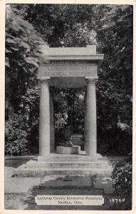Medina Ohio Lathrop Cooley Memorial Fountain Antique Postcard K73408