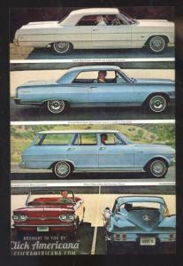 1964 CHEVROLET CAR DEALER ADVERTISING POSTCARD '64 CHEVY CORVAIR CORVETTE