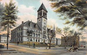 City Hall, Cambridge, Massachusetts, Early Postcard, Used in 1908