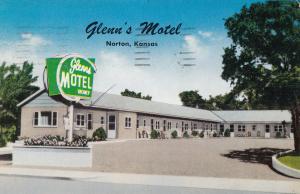 NORTON, Kansas, PU-1963; Glenn's Motel