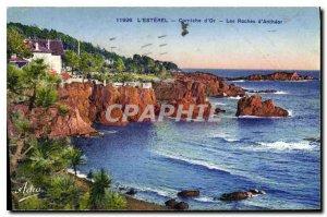Old Postcard L'Esterel Corniche d'Or Rocks Antheor