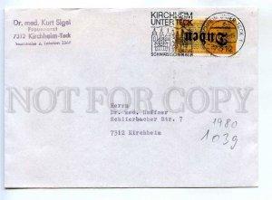 273123 GERMANY 1980 year Kirchheim unter teck cancellation