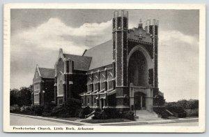 Little Rock Arkansas~Presbyterian Church~Unique Architecture~1943 B&W Postcard