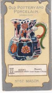Cigarette Card R J Lea Chairman Old Pottery and Porcelain 2nd series No 67