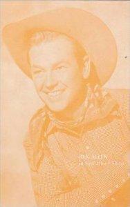 Cowboy Actor Rex Allen Vintage Arcade Card