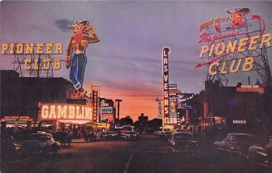 Casino Post Card Pioneer Club Las Vegas, NV., USA Unused
