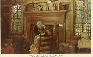 TN - Rutherford, Parlor of David Crockett Home