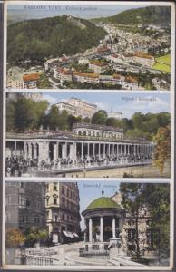 KARLOVY VARY - multiple views of town 1910s - Spa, castle CZECHOLOVAKIA