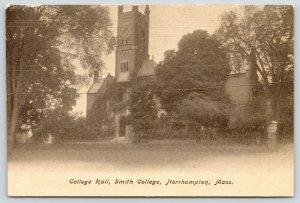 Northampton Massachusetts~Smith College~College Hall~Square Clock Tower~c1905