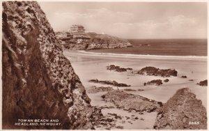 RP; NEWQUAY, Cornwall, England, 1950's; Towan Beach And Headland