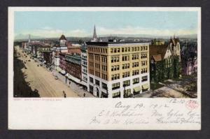 MA Aerial View of North Street PITTSFIELD MASS Postcard Massachusetts