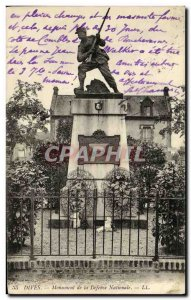 Old Postcard Dives Monument of National Defense Army