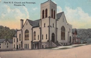 PITCAIRN, Pennsylvania, PU-1913; First M.E. Church And Parsonage