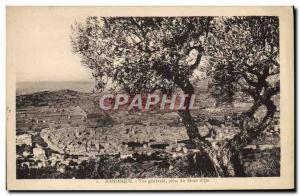Postcard Old Manosque Vue Generale Mount jack & # 39or