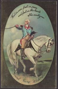 General George Washington on Horseback Postcard