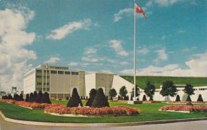 The colourful gardens of the Robert H. Sauders Generating Station, Cornwall, ...
