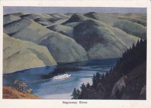 Oceanliner/Ship/Steamer, Saguenay River, Quebec, Canada, 1950-1970s