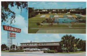 McAllen, Texas, Early Views of The FLAMINGO-FRONTIER MOTOR HOTEL