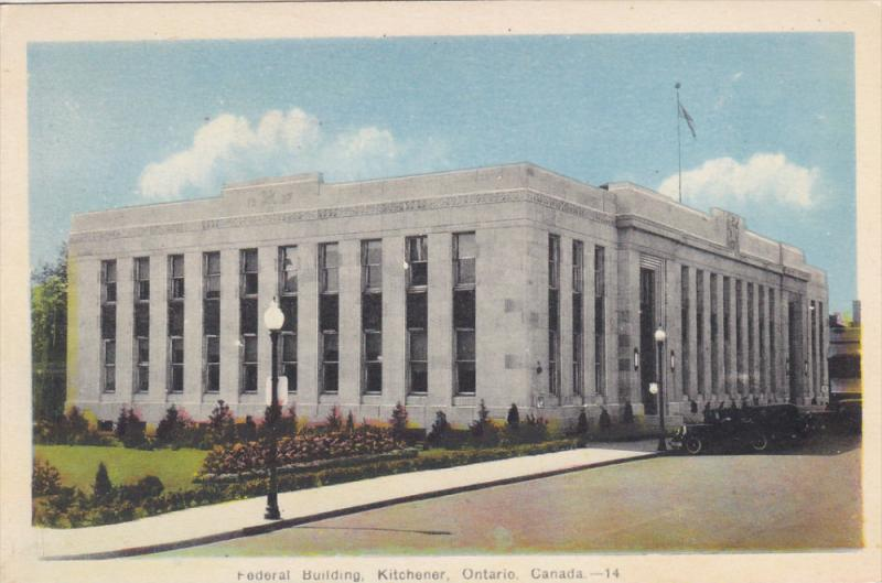 Federal Building , KITCHENER , Ontario , Canada , 30-40s