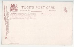 P1122 old art card tucks fishing oilette unused isle of wright carisbrooke uk