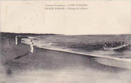 Cote D'Ivoire Ivory Coast Grand Bassam Passage de la Barre 1911