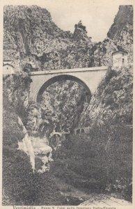 VENTIMIGLIA, Italy, 1900-1910's; Ponte S. Luigi sulla frontiera Italia-Francia