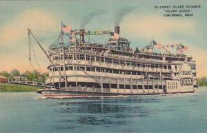 Ohio Cincinnati Coney Island Steamer Island Queen