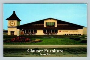 Berne IN- Indiana, Clauser Furniture, Furniture Store, Chrome Postcard
