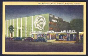 Earl Carroll Theater/Restaurant Hollywood CA unused c1941