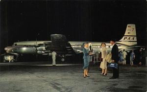 Pan American Douglas DC-7 Super-7 Clippers Postcard