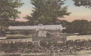Kansas National Military Home Spanish Gun Captured By Admiral Dewey Albertype
