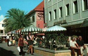 Curacao Netherlands Antilles Dr. M.F. Da Costa Plein Shopping District Postcard
