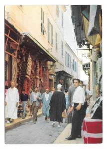 Tunisia Tunis Suk Les Souks Market Vintage Ismail Postcard