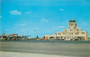 Oklahoma City Oklahoma~Will Rogers Field~Municipal Airport~1950's Postcard