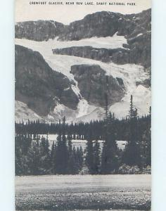 1940's CROWFOOT GLACIER Banff National Park Alberta AB F4225