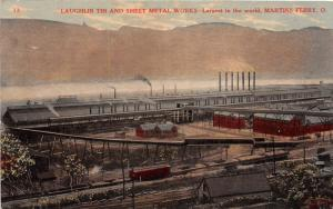 E67/ Martins Ferry Ohio Postcard Belmont Co Laughlin Tin Sheet Metal Factory 9