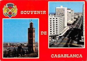 Morocco Souvenir de Casablanca Rue Mostafa el Maani Auto Cars Tower