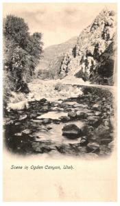 Utah Ogden ,  Scene in Ogden Canyon, Stream in mountains